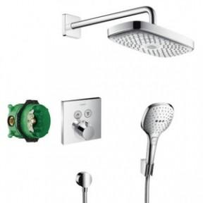 HANSGROHE Raindance Select E-ShowerSelect Душевой набор (верхний, ручной душ, ibox, термостат) (27296000)