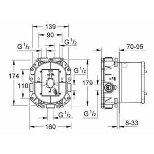 Встроенный универсальный термостат Grohe Rapido T (35500000)