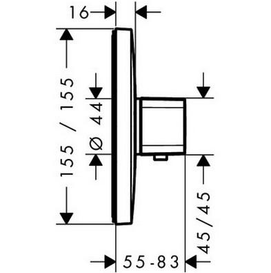 Термостат для душа HANSGROHE Ecostat E (15705000)