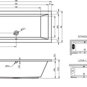 Ванна акриловая RIHO LUSSO BA98 180×80