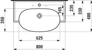 Умывальник  New Classic 1385.5 800х480мм