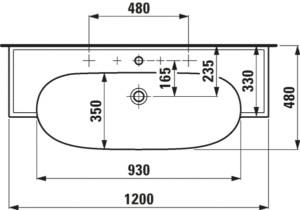Умивальник New Classic 1385.8 1200х480мм