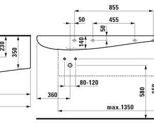 1497.1 Умывальник ALESSI_Laufen, 1600х500 мм