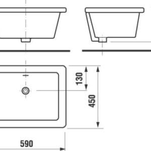 Кухонна мийка Jika Doris 590х450 (8.5102.9.000.000.1)