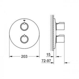 Панель термостат для душа Grohe Tenso (35500) (19402000)