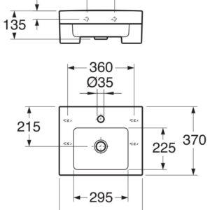 Умивальник Gustavsberg ARTic 450х370 мм. (1144500101)