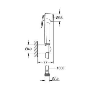 Душевой гарнитур GROHE Tempesta-F Trigger Spray 30 26352000