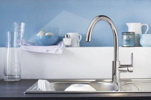 GROHE BAU EDGE 31367000 смеситель кухонный высокий