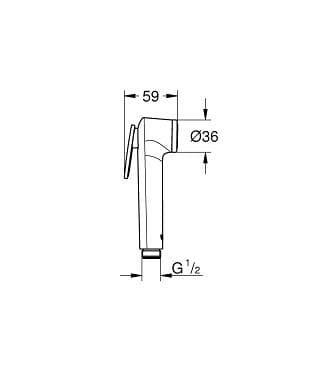 Grohe Tempesta-F Trigger Spray 30 27512001 гигиенический душ