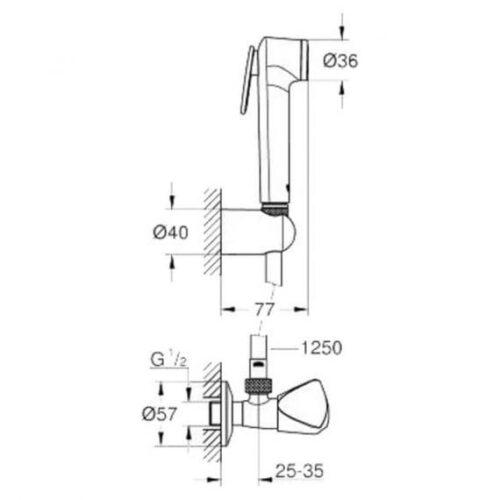 Душевой гарнитур GROHE Tempesta-F Trigger Spray 30 27514001