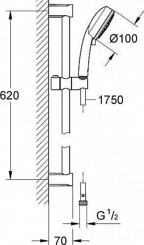 Душевой набор (гарнитур) Grohe Tempesta Cosmopolitan 27929002