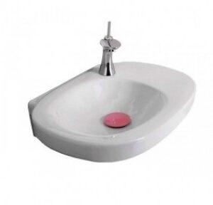 Умывальник Laufen-MIMO, 550х440 мм. (белый-розовый) (8.1055.6.045.104.1)