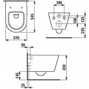 Унитаз подвесной Kartell by Laufen (8.2033.1.000.000.1)