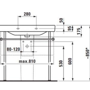 Раковина накладна Laufen-Pro S 85х46 см. (H8139650001041)