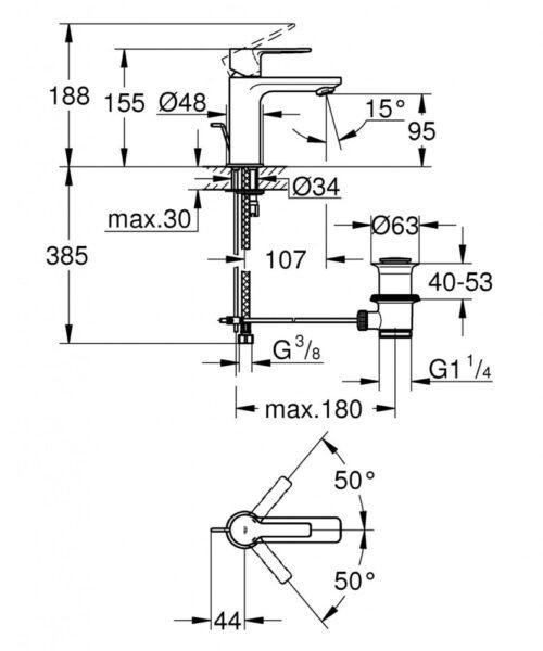 Смеситель для раковины Grohe Lineare 32109001