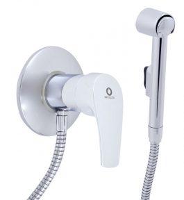 Смеситель настенный для биде с гигиеническим душем (лейка-пластик) Rav Slezak Kongo K047