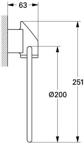 Кольцо для полотенца (хром) Grohe Taron 40167 000