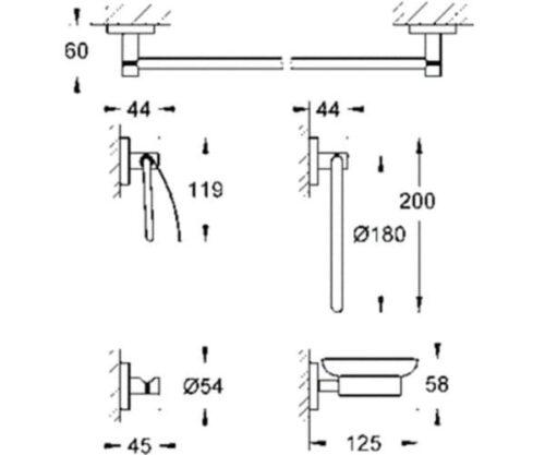 Набор аксессуаров Grohe Essentials 40344001