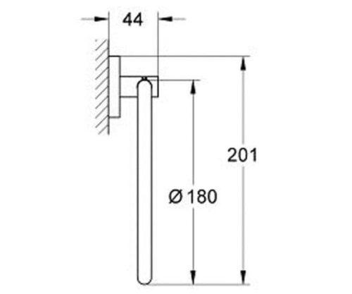 Grohe Essentials 40365001 держатель для полотенца