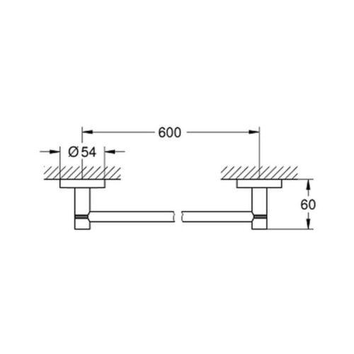Grohe Essentials 40366001 (старый арт. 40366000) держатель для полотенца
