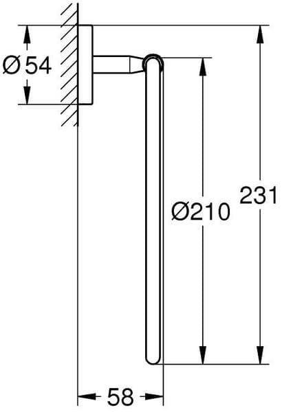 GROHE BAU COSMOPOLITAN 40460001 кольцо для полотенца