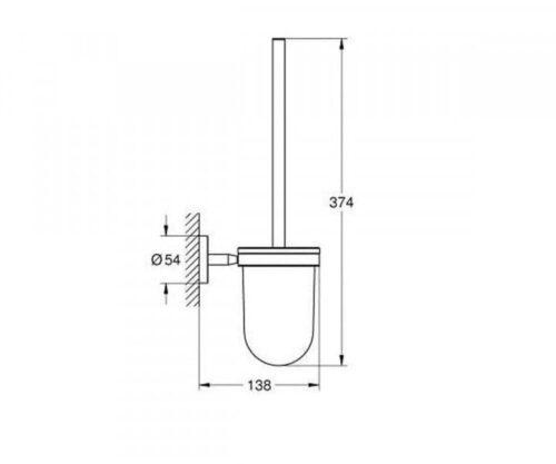 GROHE BAU COSMOPOLITAN 40463001 туалетный ершик