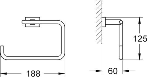 Полотенцедержатель GROHE ESSENTIALS CUBE 40510001 хром (30289)