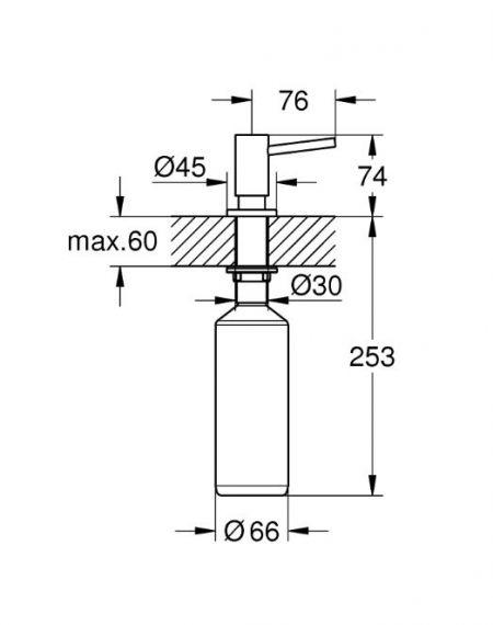 Дозатор жидкого мыла Grohe Cosmopolitan (40535000)