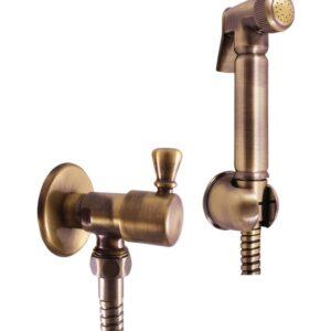 Душевой комплект Rav Slezak (вентиль+шланг+лейка+держатель) зол/пл. MK548Z