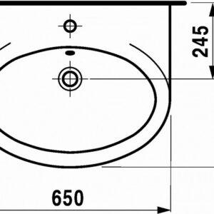Умывальник Laufen GALLERY 650х530 (8.1017.4.000.000.1)