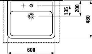Раковина-чаша Laufen-PRO 600х480 мм. (H8179520001041)