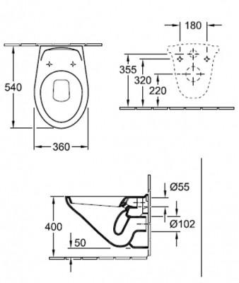 Унитаз подвесной Villeroy & Boch Omnia Classic (7K821001)