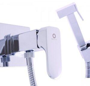 Смеситель настенный для биде с гигиеническим душем (лейка-пластик) Rav Slezak Yukon YU147
