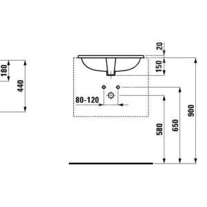 Раковина Laufen PRO S 560х450 H8189630001091 встраиваемая сверху 1896.3