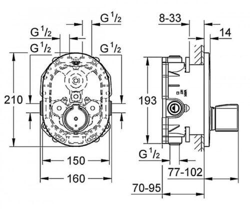 Панель центрального термостата Grohe Grohtherm 2000 (19418000)