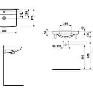 Умивальник Laufen Pro Nordic 60×42 H8109560001041 (1095.6)