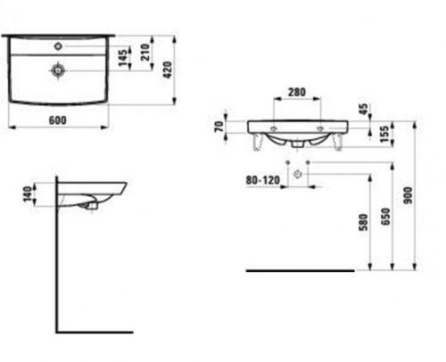 Раковина Laufen Pro Nordic 60x42 H8109560001041 (1095.6)