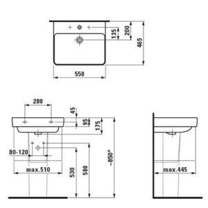 Раковина Laufen-Pro S 55х46 см. (8.1096.2.000.104.1)