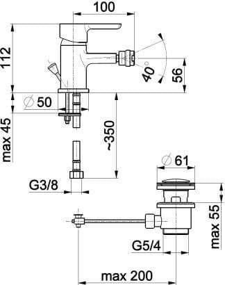Смеситель для биде Granat 5527-015-00