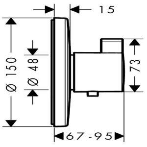 Термостат для душа HANSGROHE Ecostat S Highflow (15756000)