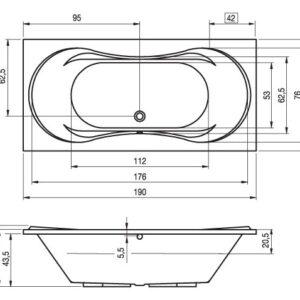 Ванна акриловая RIHO SUPREME BA58 190×90