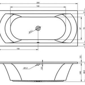 Ванна акриловая RIHO LIMA BB49 200×90