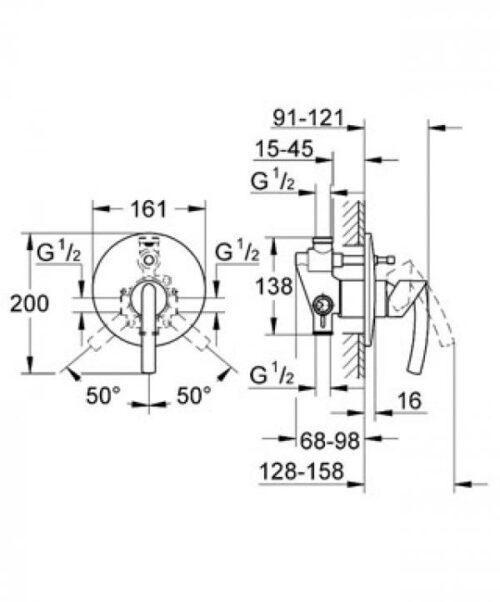 Накладная панель для ванны Grohe Tenso (35501) (19050000)