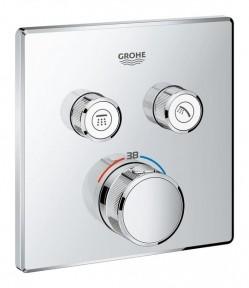 Grohe Grohtherm SmartControl накладная панель к термостату скрытого монтажа с двумя кнопками управления (29124000)