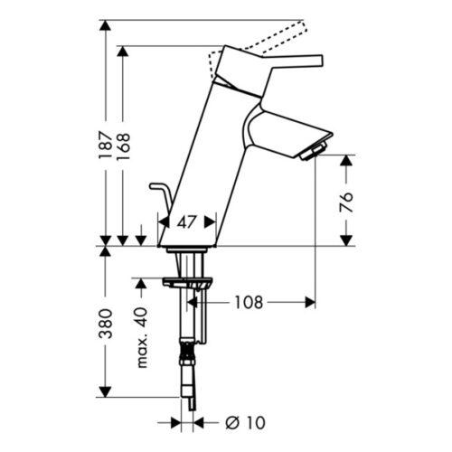 Смеситель для раковины, однорычажный HANSGROHE Talis S (32040000)