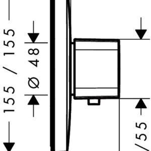 Термостат центральный встраиваемый HANSGROHE Ecostat E Highfow (15706000)