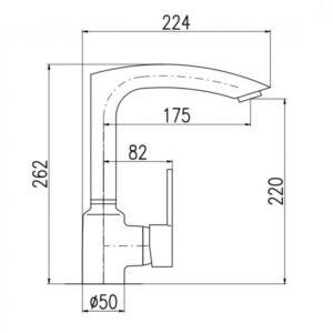 Смеситель для кухни Rav Slezak Zambezi ZA007.5/7CС хром-черное