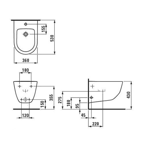 Унитаз подвесной с скрытым сливом Laufen-PRO New (8.2096.6.000.000.1)