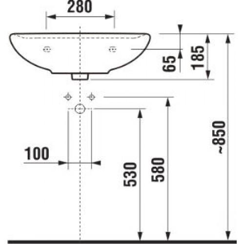 Умывальник Jika Lyra Plus 50х41 см. (8.1438.1.000.104.1)