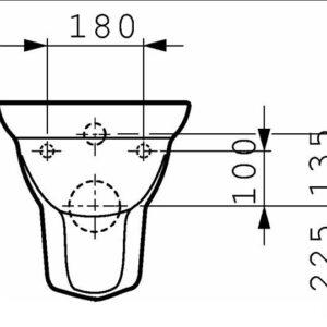 Унитаз консольный Laufen GALLERY (2017.0)